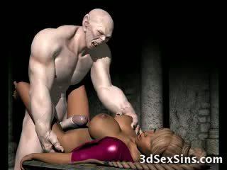 Frightening Zombie Fucks 3D Babe!
