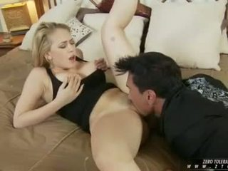 Busty whore Kagney Karter enjoys the monstrous cock fucking her mouth