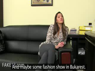 Fake agent having bang apie oda sofa