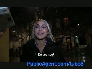 Publicagent seksi blondinke s podjetje rit swallows prihajanje