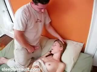 Sleeping sister fucked by lustful brother