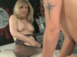 Nina hartley bounces jej moist p.