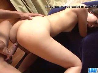 Deep penetration hardcore sex show with hot Risa Misaki