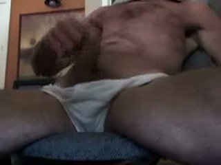 Daddy runking av i foran av den web kamera