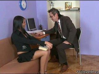 Delightful analinis seksas su mokytojas