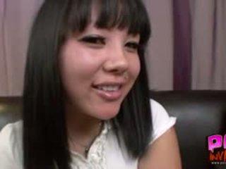 Aziāti skola meitene tina lee facialized