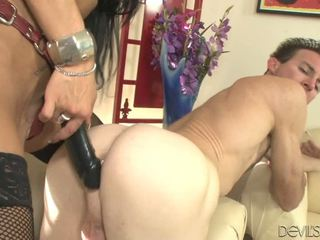 Angelina Valentine Fucking A Guy With A Big Strap On