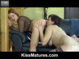 Hot Kiss Matures Vid Starring Sheila, Bridget, Margie