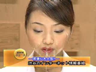 Japans newsreader bukkake