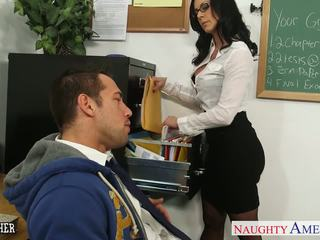Bruna insegnante kendra lust gets facialized
