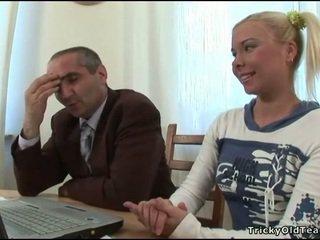 Tricky giáo viên seducing sinh viên