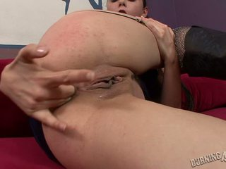 Mina Lee Loves Rock Roll In Her Butthole So She Fingers It