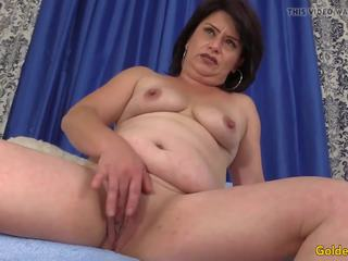 Older Woman Jenna Jingles Strips Down and Fucks: HD Porn 74
