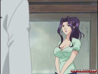 Мама японська хентай gets squeezed її bigboobs