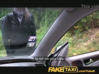 fälschung, taxi, blondine