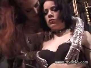 Dungeon High Priestess Dakota Introduces Innocent Girl Kate Mandala Into Erotic Arts With Sensual Delivery Of Pain To Her Tits