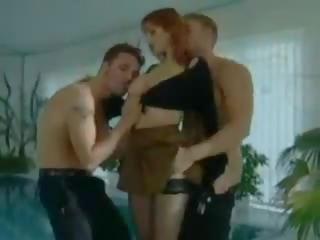 Redhead Wife with Two Men, Free Lingerie Porn da