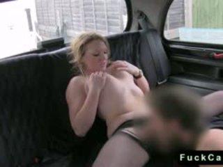 Blonde BBW Anal Banged In Fake Taxi In Public