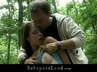 Kinky Domination In The Woods For A Awesome Bondman