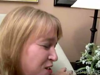 Chubby MILF shows you how she loves to suck cock