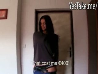 Busty Amateur Long Haired Czech Girl Vikky Pumped For Money
