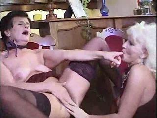 brunette, lesbians, granny