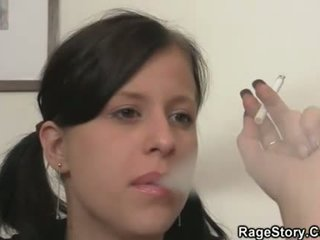 Drunk GF is deepthroated and fucked rough