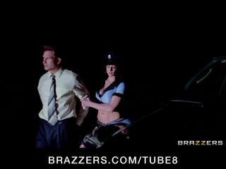Thick big tit cop deepthroats and rides dick like a champ