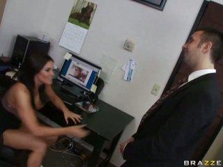 Interrupted masturbation session in haar kantoor