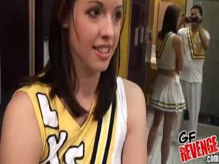 Lõi cứng giới tính với cheerleaders hình ảnh bộ sưu tập