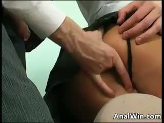 业务 女人 being 性交 在 该 屁股
