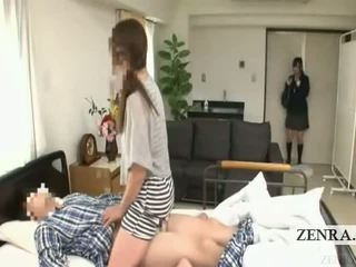 Subtitled japans schoolmeisje ziekenhuis milf verrassing