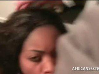 Afro Chick Mouth Fucking Giant White Boner
