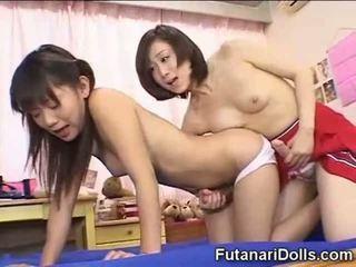 Futanari Teens Fucking and Jizzing!