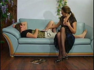 Russian mature aunt with young boy.