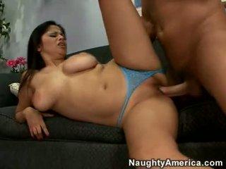 Breasty lalin meitene evie dellatossa getting pounded par viņai cunt sideways