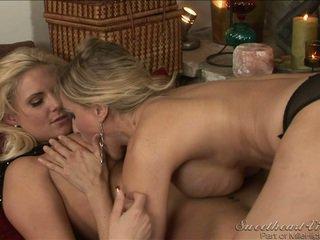 lesbiečių seksas, hq dideli krūtų, puikus lesbietė šviežias