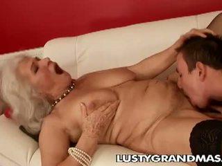 할머니, rimjob, 털이 음부