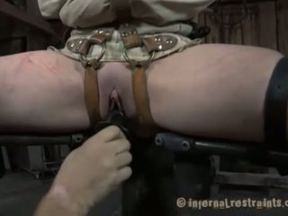 Restrained beauty made to submit to chap demands