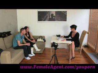 FemaleAgent. Jealous casting won't share her fiance