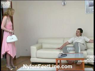 Irene adam najlon footsex video
