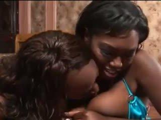 Ebony Babes Give Nice Blowjob Video
