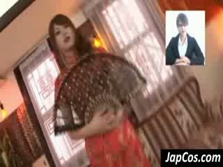 Gầy á châu geisha gets teased