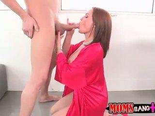Super hot mature stepmom Abby goes wild