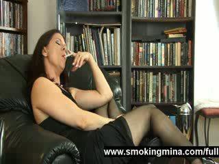 watch smoking, quality grandma, aged film