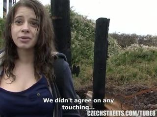 Τσέχικο κολλέγιο κορίτσι έξω σεξ για λεφτά