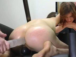 Kneeling Enema with the glass syringe