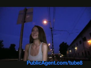 PublicAgent Smiley brown haired cutie gets paid for sex