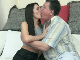 brunette, bigtits, kissing