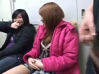 Japanese Girls Have Fun Watching Him Jerk Dkss-48